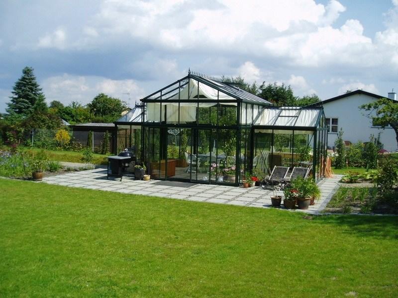 Alvorlig Drivhus, orangeri, pavillon, væksthus, udestue - Det Grønne Kompagni BB07