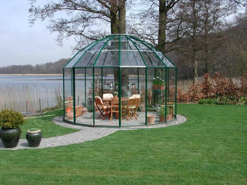 Nice Drivhus, orangeri, pavillon, væksthus, udestue - Det Grønne Kompagni MZ15